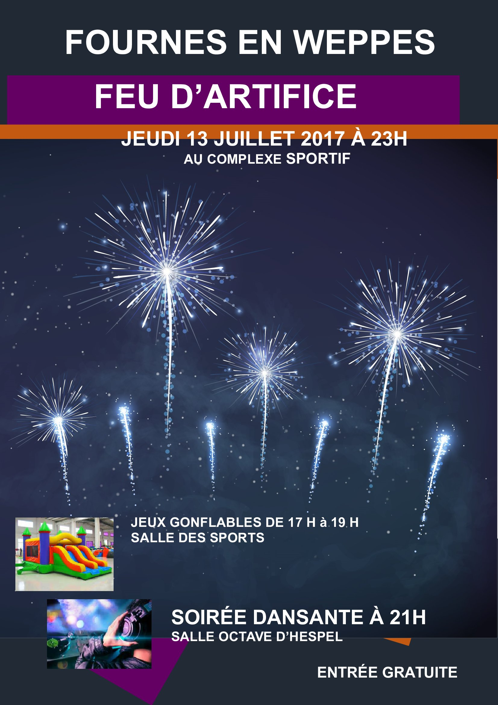 AFFICHE FEU D ARTIFICE 2017