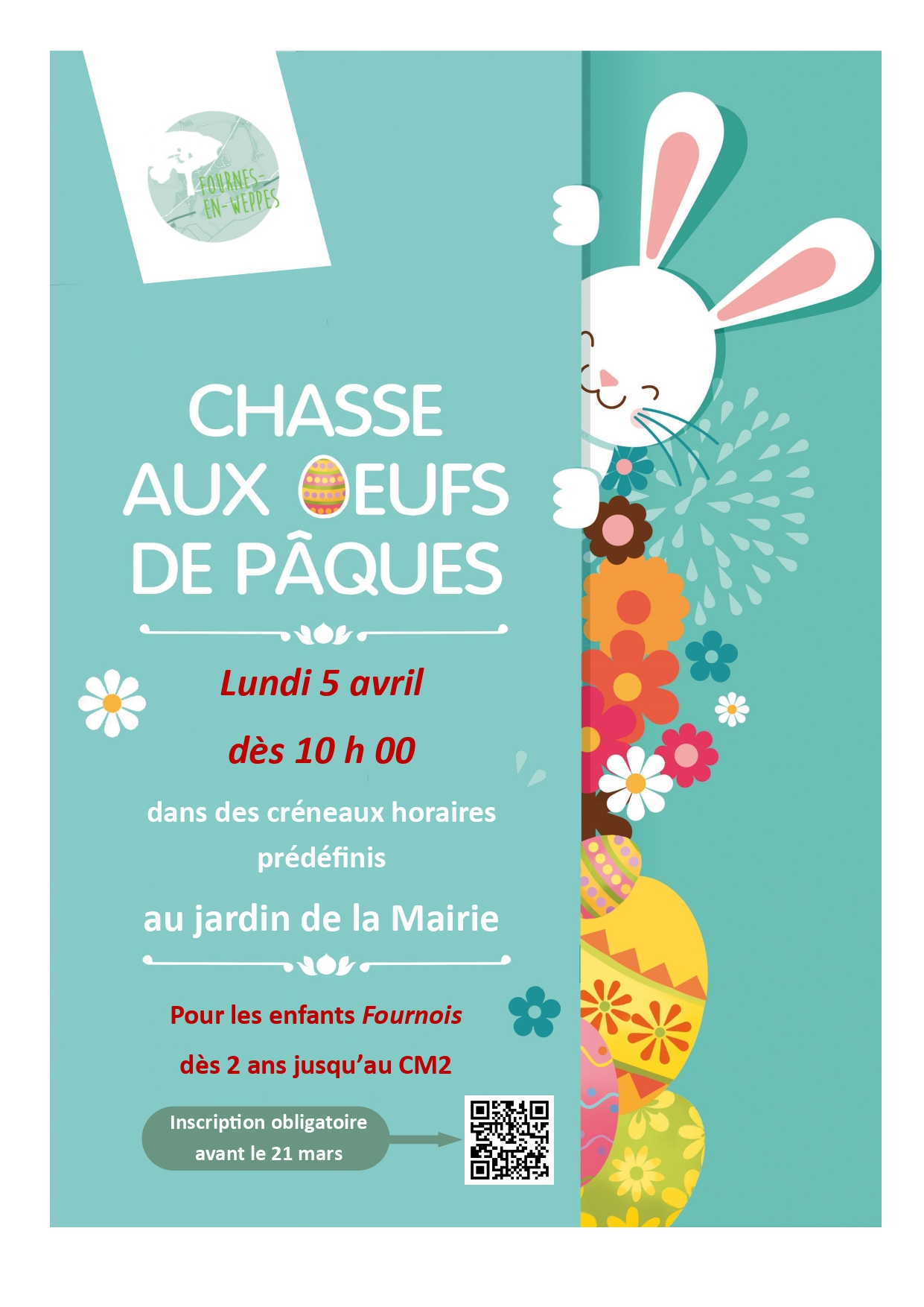 chasse aux oeufs FEW 5 avril 2021